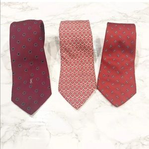 Vintage Tie Lot YSL, Valentino And Hermes